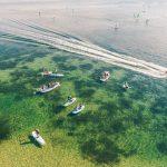 Widok z drona na zatokę pucką