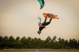 Sri Lanka kitesurfing skok Łukasza Cerana