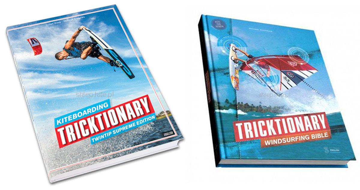 Książka kitesurfingowa i windsurfingowa Tricktionary.
